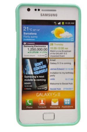 Etui Nakładka Mercury Goospery Jelly Case do SAMAUNG Galaxy S2 / S2 Plus mięta