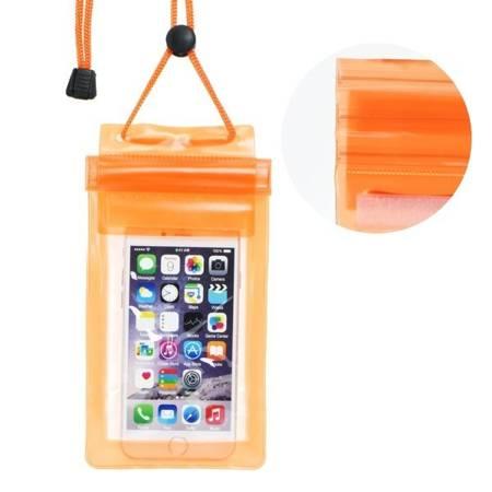 Etui wodoodporne pokrowiec na telefon kajak plażę pomarańczowy