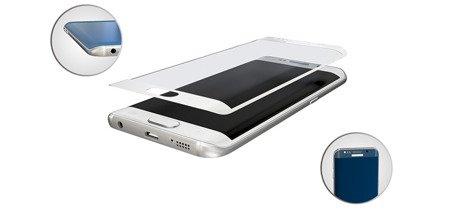 3MK SZKŁO HARTOWANE HardGlass Max do SAMSUNG GALAXY S7 EDGE biały