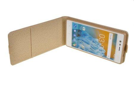 ETUI KABURA FLEXI W3 do Nokia 3 / Nokia 3 Dual Sim złoty
