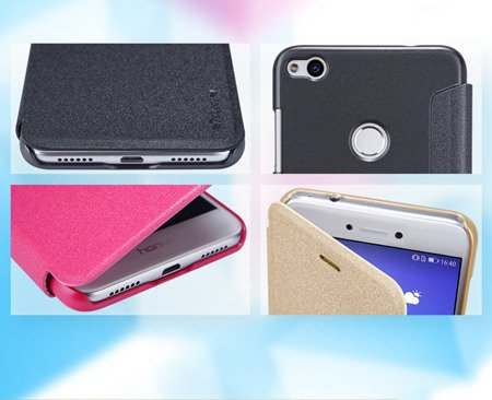 ETUI NILLKIN SPARKLE LEATHER CASE do HUAWEI P8 Lite 2017 / P9 Lite 2017 / HONOR 8 Lite czarny