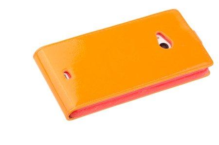 Etui Kabura Flexi Fresh do MICROSOFT LUMIA 535 pomarańczowy