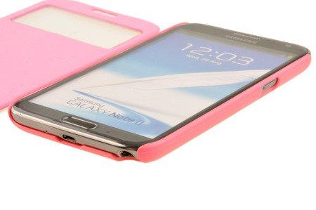 Etui Mercury Easy View do SAMSUNG GALAXY NOTE 2 N7100 różowy