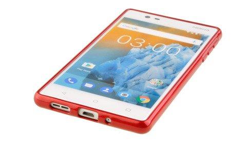 Etui Mercury Goosper Jelly Case do Nokia 3 czerwony
