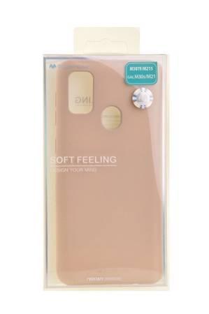 Etui Mercury Goospery Soft Feeling do Samsung Galaxy M21 / M30s beżowy