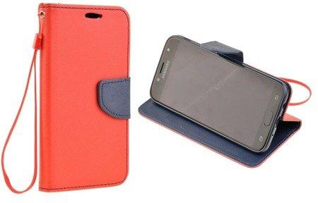 Etui Portfel Fancy Case do SAMSUNG GALAXY J5 2017 J530 czerwony