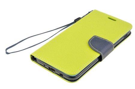 Etui Portfel Fancy Case do SAMSUNG GALAXY J7 2017 J730 limonka
