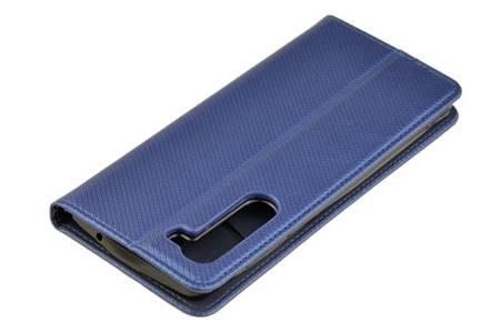 Etui Smart do Motorola Edge niebieski