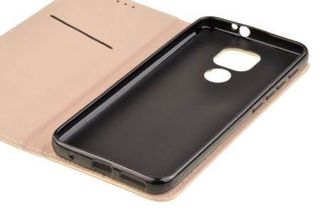 Etui Smart do Motorola Moto G9 / G9 Play / E7 Plus złoty