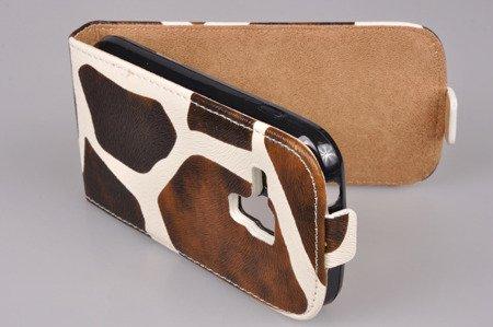 Etui kabura Flexi Fresh do SAMSUNG GALAXY TREND S7560 / TREND PLUS S7580 / DUOS S7562 żyrafa