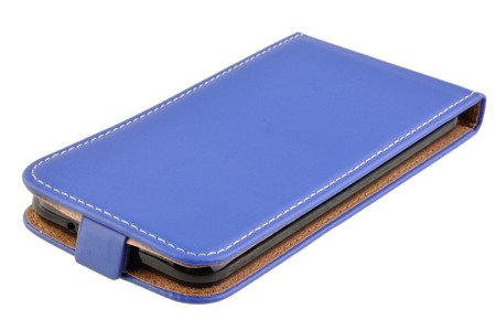 Etui kabura Flexi Rubber do HUAWEI P20 Lite niebieski