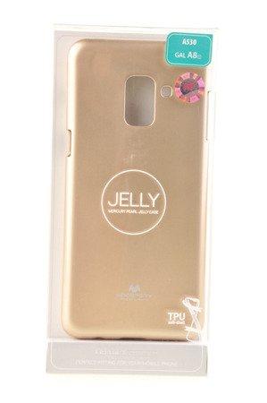 Etui nakładka Mercury Goospery Jelly Case do SAMSUNG GALAXY A8 2018 A530 złoty