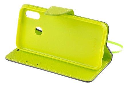 Etui portfel Fancy Case do HUAWEI P20 Lite niebieski