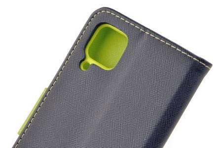 Etui portfel Fancy Case do Huawei P40 Lite niebieski