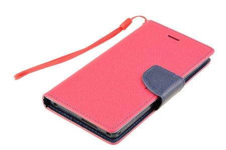 Etui portfel Fancy Case do SONY XPERIA M2 różowy