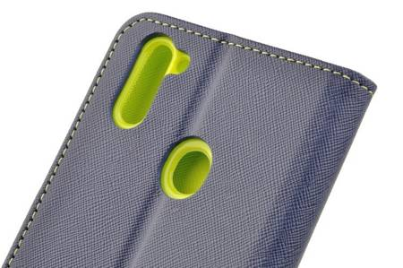 Etui portfel Fancy Case do Samsung Galaxy M11 / A11 niebieski