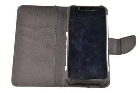 Etui portfel zamykane z klapką do Hammer Iron 3 / Iron LTE czarny