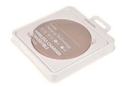 Oryginalna ładowarka indukcyjna składana skóra Samsung EP-PG950B beż
