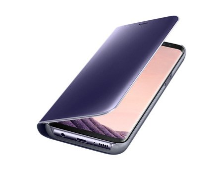 Oryginalne Etui Clear View Standing Cover do SAMSUNG Galaxy S8 G950 fiolet