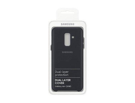 Oryginalne etui Dual Layer Cover do SAMSUNG GALAXY A6+ / A6 Plus 2018 czarny