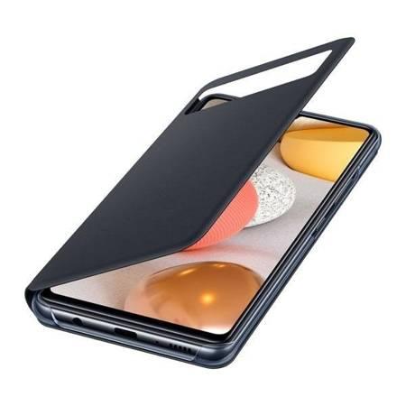 Oryginalne etui Smart S View Wallet Cover do Samsung Galaxy A42 5G czarny