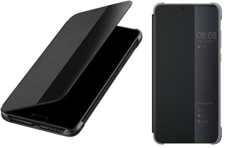 Oryginalne etui Smart View Flip Cover do HUAWEI P20 Pro czarny