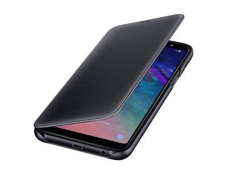 Oryginalne etui Wallet Cover do SAMSUNG GALAXY A6+ / A6 Plus 2018 A605 czarny