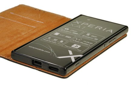 SKÓRZANE ETUI BOOK COVER do SONY XPERIA XA1