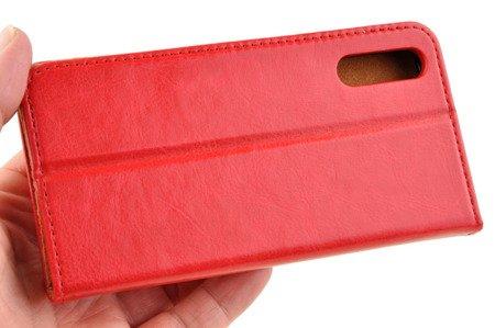 Skórzane etui Book Cover do HUAWEI P20 czerwony